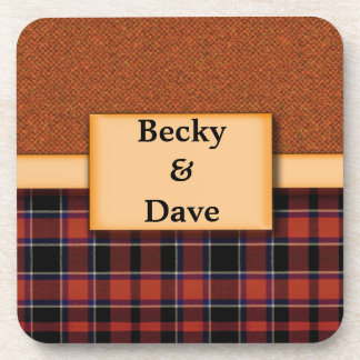 Personalized Tartan Coasters