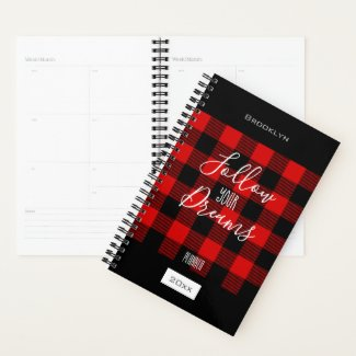 Personalized Tartan Plaid Planner