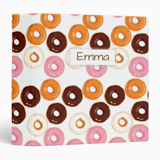 Personalized Tasty Assortment of Donuts Binder