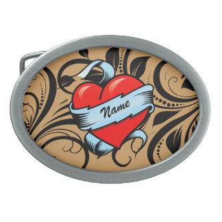 Personalized Tattoo Heart Belt Buckle