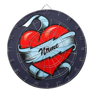 Personalized Tattoo Heart Dart Board
