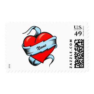 Personalized Tattoo Heart Stamp