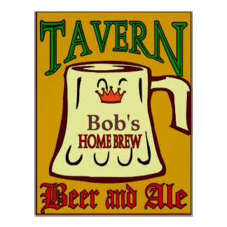 Personalized Tavern Sign Posters
