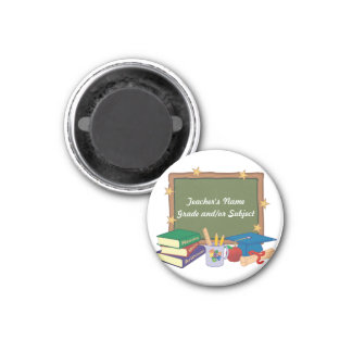 Personalized Teacher 1 Inch Round Magnet