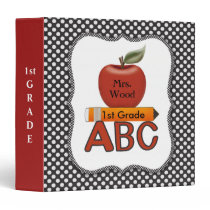Personalized Teacher ABC Binder