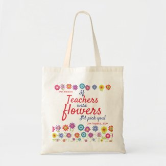 Personalized Teacher Appreciation Gift Tote Bag