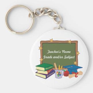 Personalized Teacher Basic Round Button Keychain