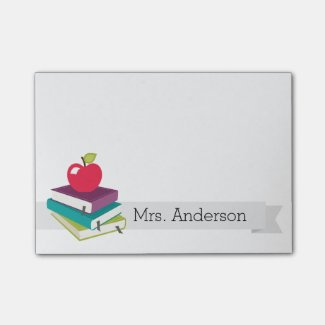 Personalized Teacher Books Apple Notes Post-it® Notes