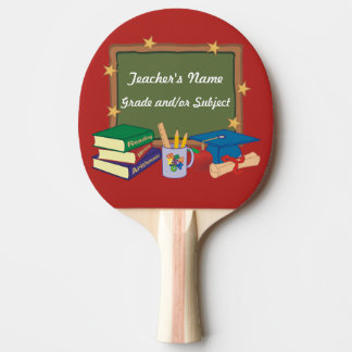Personalized Teacher Chalkboard Stars Ping Pong Paddle