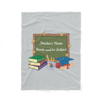 Personalized Teacher Fleece Blanket