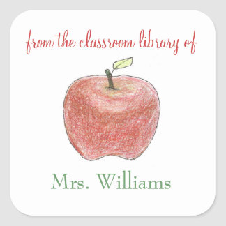 Personalized teacher gift bookplates