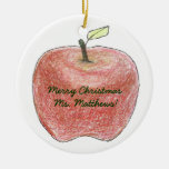 Personalized teacher gift Christmas ornament