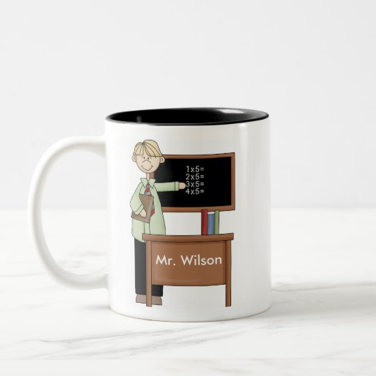 Personalized Teacher Gift Two-Tone Coffee Mug