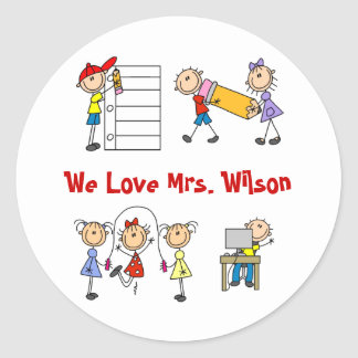 Personalized Teacher Gifts Classic Round Sticker