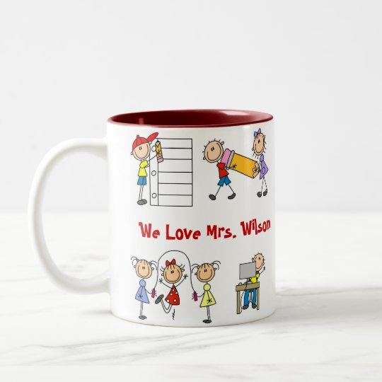 Personalized Teacher Gifts Two-Tone Coffee Mug