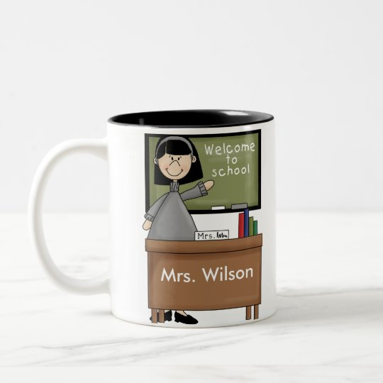 Personalized Teacher Gifts Two-Tone Coffee Mug