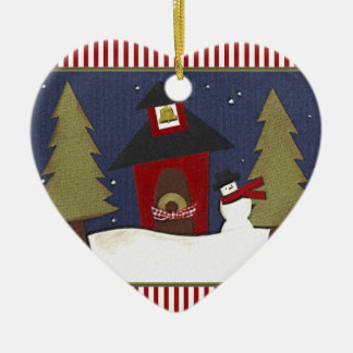 Personalized Teacher Holiday Gift Ceramic Ornament