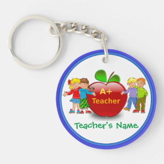 Personalized Teacher Keychains with Teacher's NAME