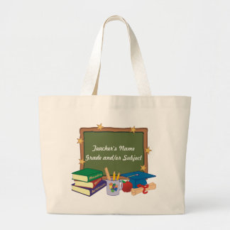 Personalized Teacher Large Tote Bag