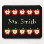 """Personalized Teacher Mousepad<br><div class=""""desc"""">This cute teacher mousepad features an apple border and the name of your choice. Makes a useful teacher&#39;s appreciation gift.</div>"""