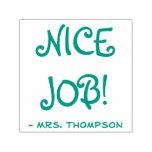 "[ Thumbnail: Personalized Teacher Name + ""Nice Job!"" Self-Inking Stamp ]"