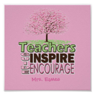 Personalized Teacher Posters