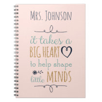 Personalized Teacher Quote Notebook
