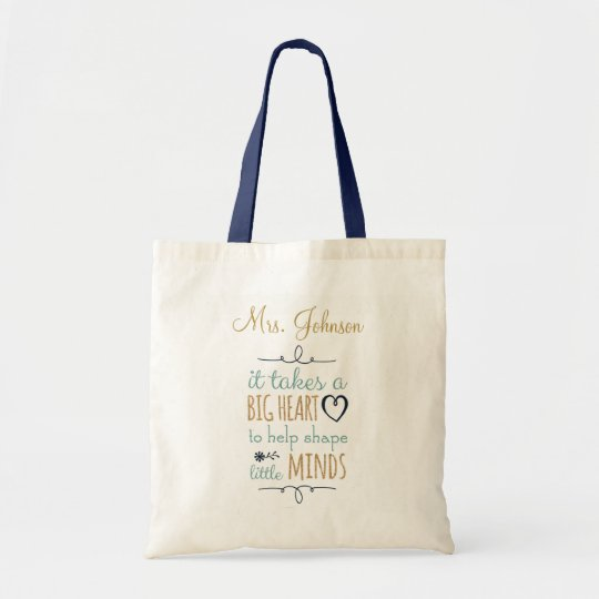 Personalized Teacher Tote Bag Zazzle