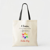Personalized Teacher (Touches A Life Forever) Tote Bag