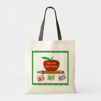 Personalized Teacher's ABC's Tote Bag