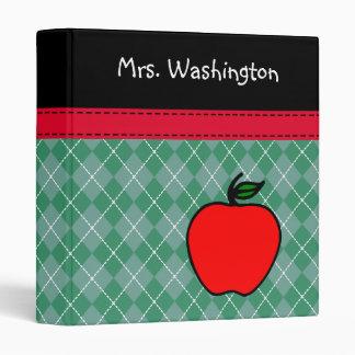 Personalized Teacher's Apple Binder 3 Ring Binder