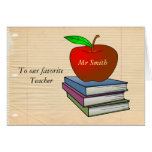 Personalized Teacher's Apple Card