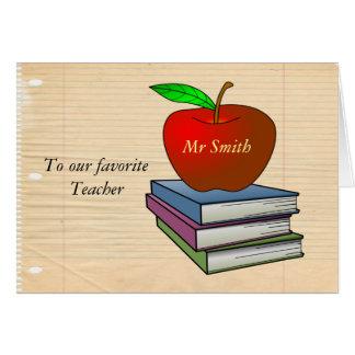 Personalized Teacher's Apple Card