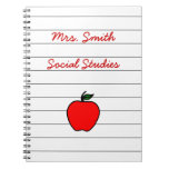 Personalized Teacher's Apple Notebook