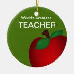 Personalized Teacher's Apple Ornament