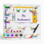 Personalized Teachers Art Class Binder / Planner