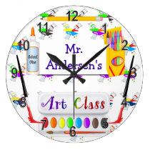 Personalized Teachers Art Class Clock