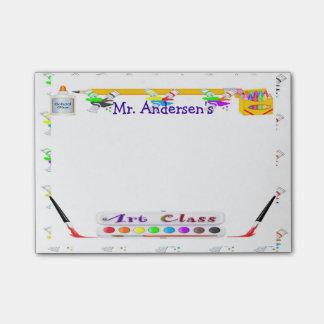 Personalized Teachers Art Class Post-it® Notes