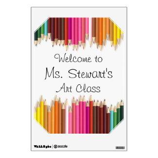 Personalized Teacher's Art Class Room Sticker