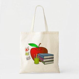 Personalized Teacher's Books & Apple Tote Bag