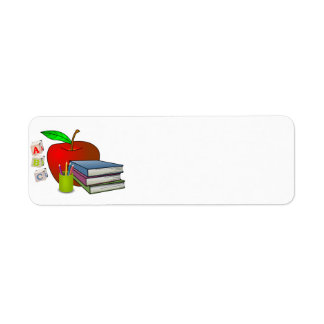 Personalized Teacher's Books & Apple Label