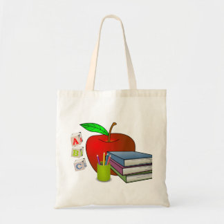 Personalized Teacher's Books & Apple Tote Bag