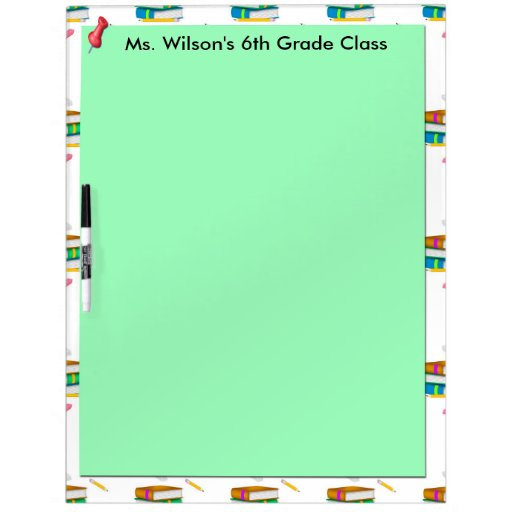 personalized teachers books green paper dry erase dry