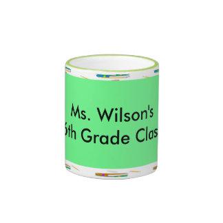 Personalized Teachers Books Green Paper Mugs