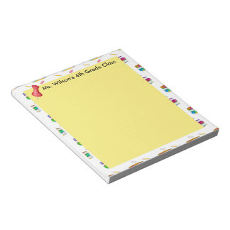 Personalized Teachers Books Pencil Paper Notepad