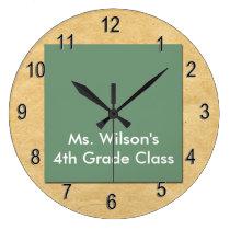 Personalized Teachers Brown Bag Chalkboard Clock