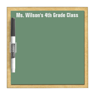 Personalized Teachers Brown Bag Chalkboard Dry Erase White Board