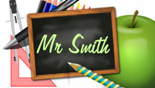 20053d6089e88 Personalized Teacher s Chalkboard Luggage Tag
