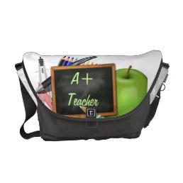 Personalized Teacher's Chalkboard Messenger Bag