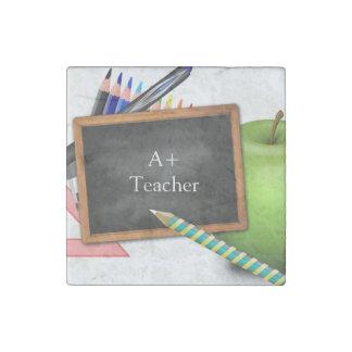 Personalized Teacher's Chalkboard Stone Magnet